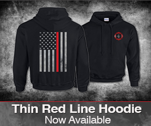 Thin Red Line Hoodie Now Available!